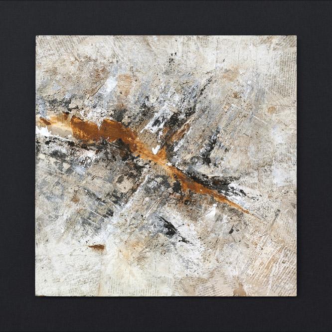Giulio Centurelli ruggine rust painting quadro Taglio epidermide urbana